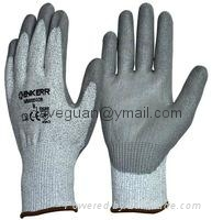 Dyneema cut-3 PU palm coate gloves