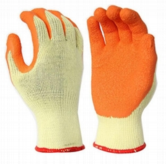 High grip working safety latex gloves
