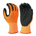 Black latex foam gloves