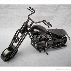 Plating Iron Toy Motorcycle Office Ornament