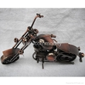 Plating Iron Toy Motorcycle Office Ornament 1