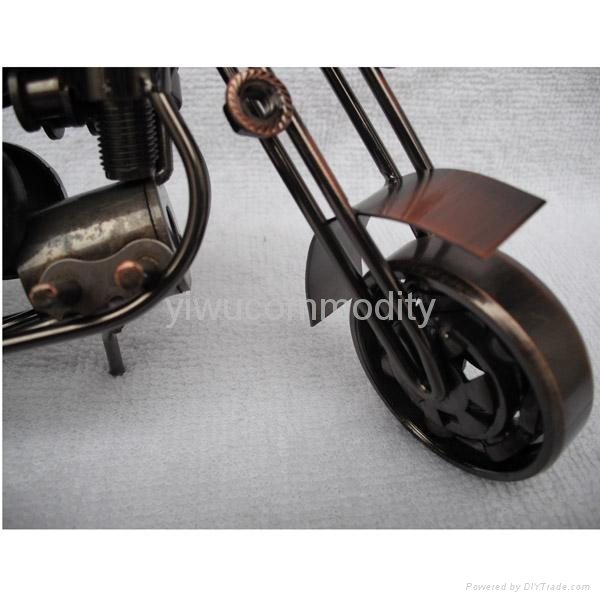 Plating Iron Toy Motorcycle Office Ornament 2