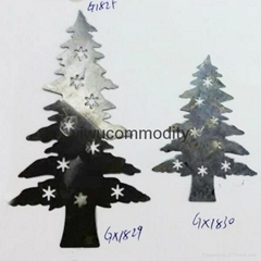 Christmas tree sheet pendant Iron sheet pendant Xmas tree pendant