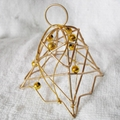 Gold iron wire Christmas Pendant with