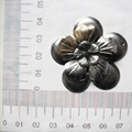 Iron flower bud sheet jewelry pendant