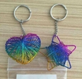 Iron wire heart key chain and