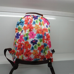Polyester  floral  backpack