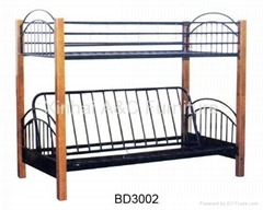 Modern Double Bunk Metal Sofa Bed