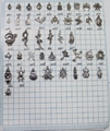 WHOLESALE! Assorted Antiqued silver mixed stytle animal Charm pendant