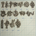 WHOLESALE! Assorted dragon bee dragonfly frog Mixed animal charm pendant