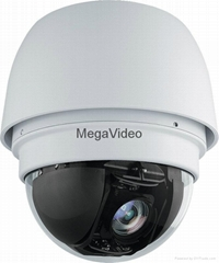 Megavideo 830-ZU series IR PTZ Dome IP Camera