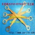 低价供应TZX-15黄绿法兰静电跨接线 防静电跨接线 接地跨接线带 1