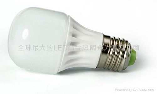 LED陶瓷燈泡E27C-3W 1