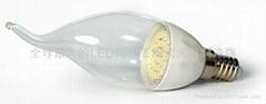 LED陶瓷蠟燭燈泡E14C-1.5W