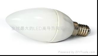 LED陶瓷蠟燭燈泡E14D-1.5W 1