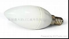 LED陶瓷蠟燭燈泡E14D-1.5W