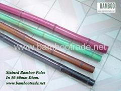 染色裝潢竹