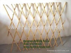 Bamboo Folding Fence with lacquer
