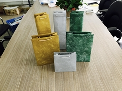 Gold onion film red wine bag gift bag
