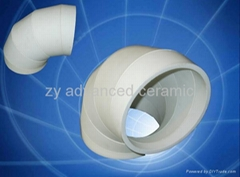 Wear Resistant Alumina  Lined Elbows For Material Handling