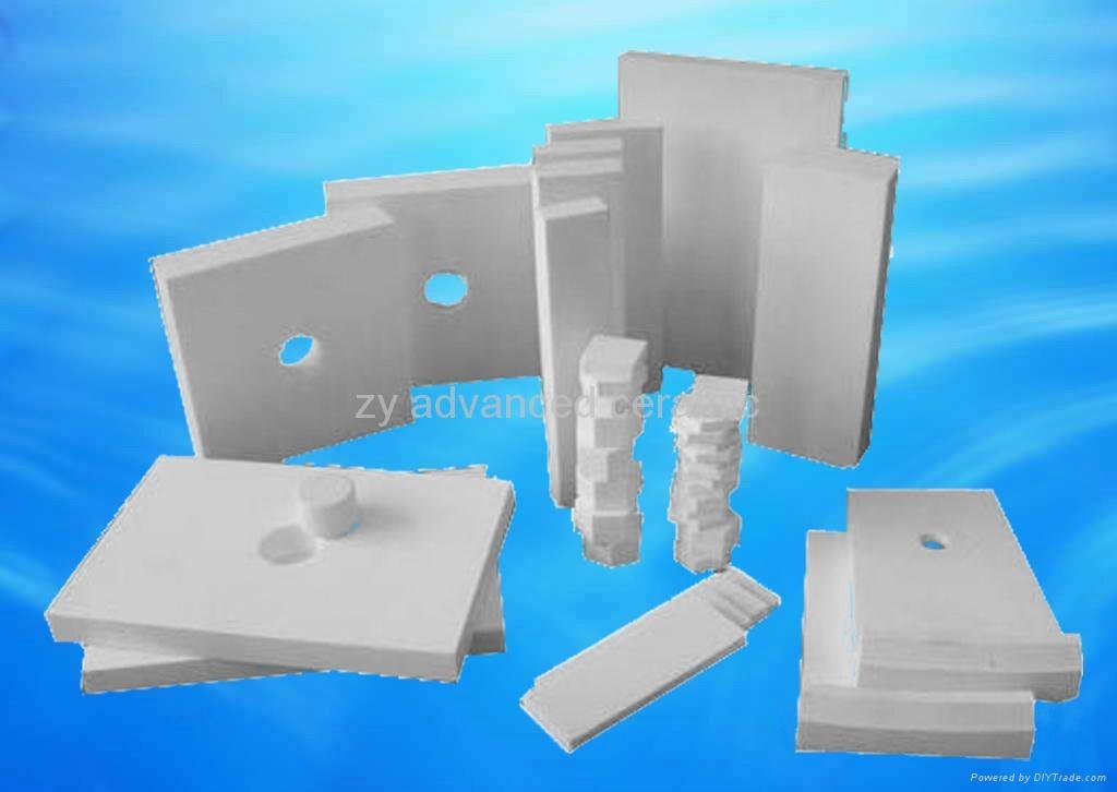 Abrasion resistant alumina ceramic tile 1