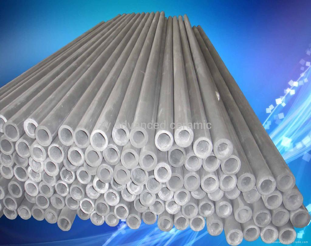 寿命长氮化硅结合碳化硅热电偶保护套用于铝熔液中 1