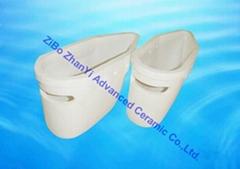 aluminum titanate ceramic Pouring Cup for conveying liquid aluminum