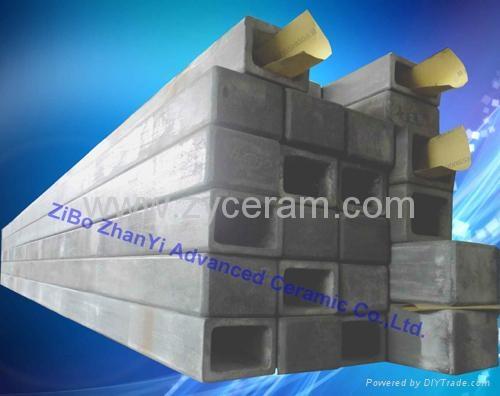 耐高温氮化硅结合碳化硅横梁用于高温窑炉中