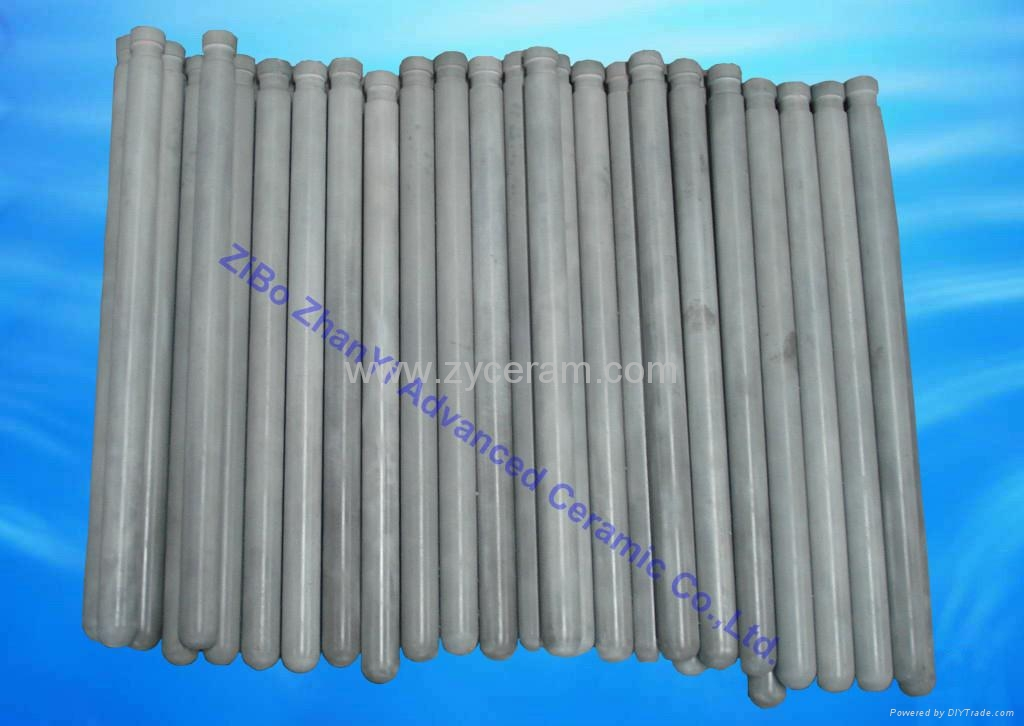 good thermal shock resistance Si3N4 thermocouple protection tubes