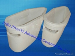 excellent heat-shock resistance ceramic hot metal ladle for melton metals