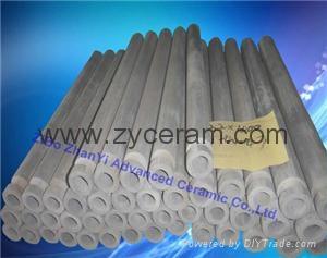 NSiC High Temperature thermocouple protection tube For Molten AL