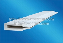 ceramic fiber feed tip for wide aluminium strip roll casters
