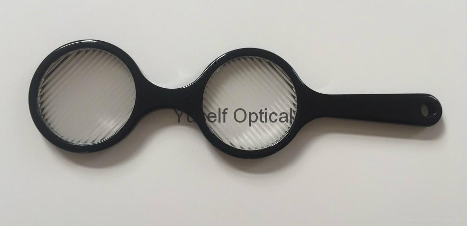 Lorgnette Striated  lenses