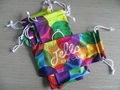 Microfiber Eyeglass/Sunglass Pouch/Bag in Heat Transfer Printing with DoublePull