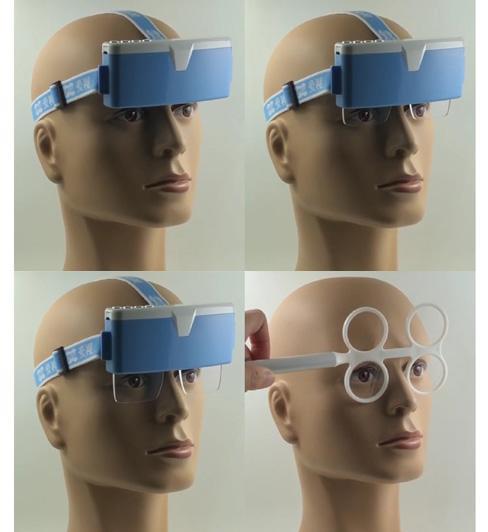 Accommodative vision training instrument