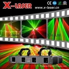 Hot selling four heads red&green laser light for DJ nightclub KTV concert