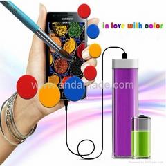 Lipstick portable mobile phone charger 1500-2600mAh power bank