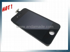for iphone 4s assembly with LCD display and Touch Screen Black white color