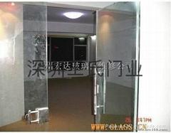辦公室玻璃門推拉門鋼化透明地彈簧門
