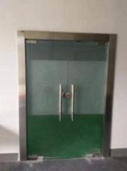 不鏽鋼鋁合金框推拉鋼化玻璃門隔斷隔離