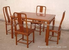 花梨明式餐檯連4椅