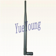 2.4GHz AP antenna, rubber antenna, 2.4GHz Wifi antenna, Swivel SMA antenna