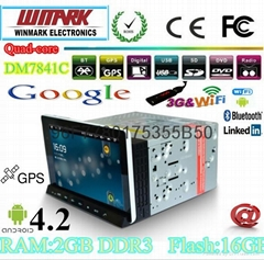 android 4.2 car tablet for car DVD player with main unit of Win CE 6.0 OS