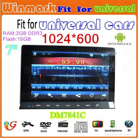 android 4.2 car tablet for car DVD player with main unit of Win CE 6.0 OS 3