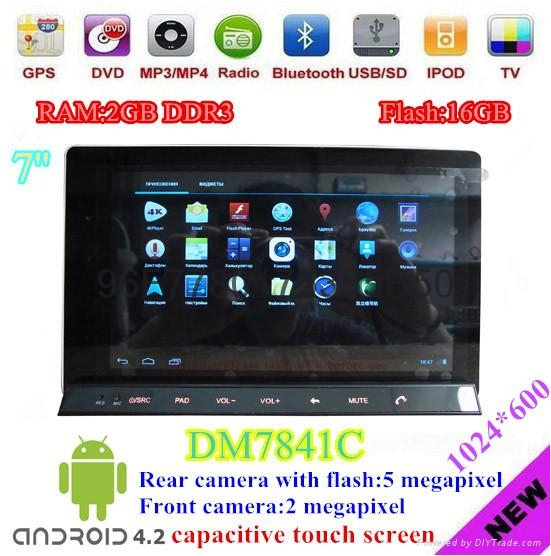 android 4.2 car tablet for car DVD player with main unit of Win CE 6.0 OS 4