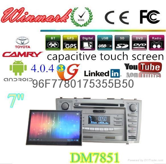 7寸雙錠豐田凱美瑞專用車載DVD車載電腦car-pad帶安卓4.0平板電腦 4