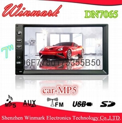 2 din car MP5 with LCD display and FM/AM,BT,TV,SD/USB,AUX,HDMI,AV,functions