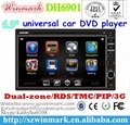 universal double din car dvd with gps bt ipod fm/am 3g etc DH6901 1