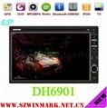 universal double din car dvd with gps bt ipod fm/am 3g etc DH6901 3