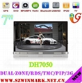 "7"" 3G digital Car CD Player with GPS IPOD Iphone4s BT radio RDS dual zone PIP 5"
